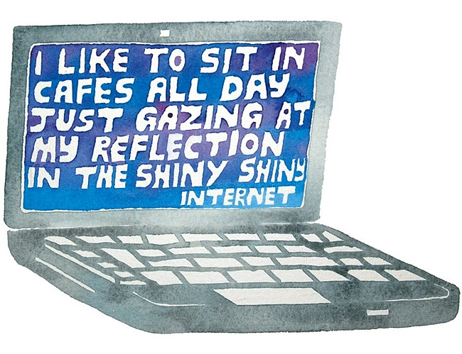 The Shiny Shiny Internet - personal work - watercolour painting