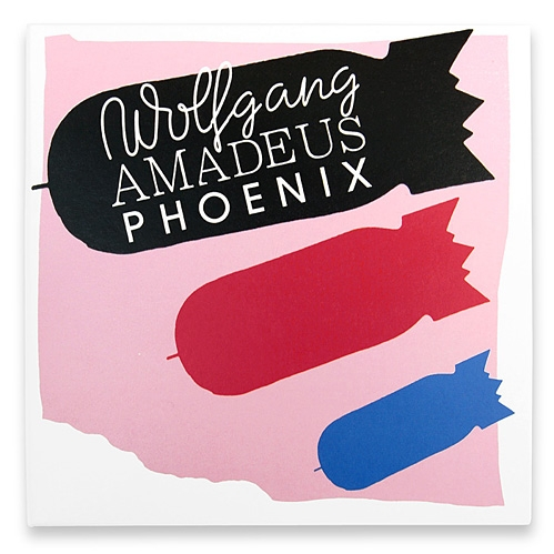 Collaborative cover for the Wolfgang Amadeus Phoenix album by the band Phoenix.